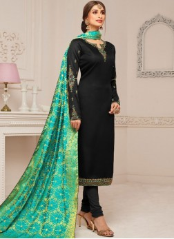 Modernistic Cotton Silk Churidar Designer Suit