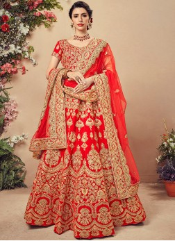 Modernistic Embroidered Sangeet Designer Lehenga Choli