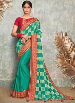 Modest Embroidered Festival Classic Designer Saree