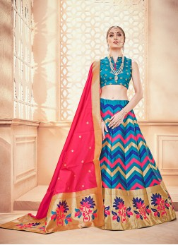 Modest Weaving Designer Lehenga Choli