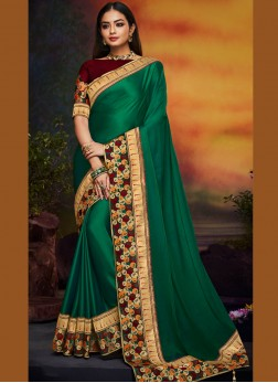 Monumental Green Traditional Saree