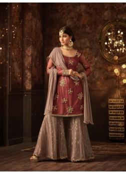 Sharara vaishnavi maroon sharara suit