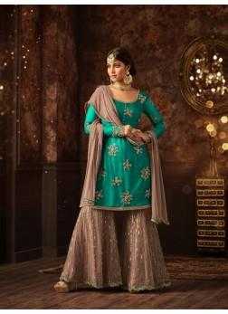 Sharara vaishnavi sea green sharara suit