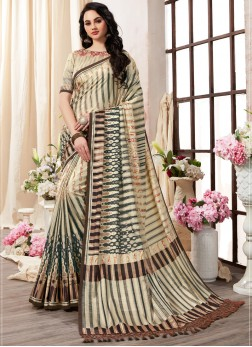 Multi Colour Art Silk Ceremonial Printed Saree