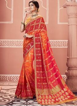 Multi Colour Color Shaded Saree