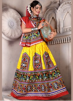Multi Colour Cotton Festival Lehenga Choli