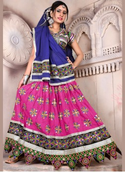 Multi Colour Embroidered Festival ChaniyaCholi