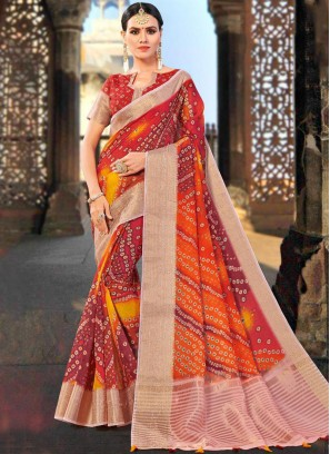 Multi Colour Festival Shaded Saree