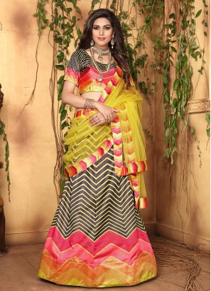 Multi Colour Wedding Designer Lehenga Choli