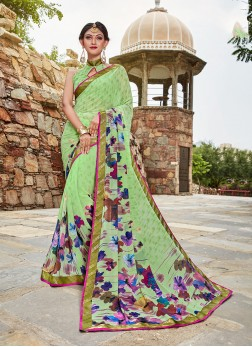Multi Colour Weight Less Casual Printed Saree