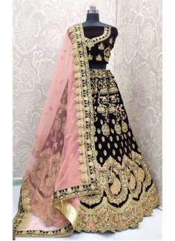 Multi Embroidery Designer Lehenga Choli In Blue