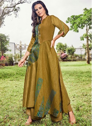 Mustard Color Party Wear Kurti