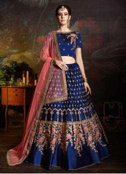 Mystic Blue Bridal Lehenga Choli