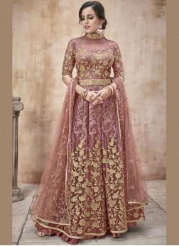 Mystic Net Lace Floor Length Anarkali Suit