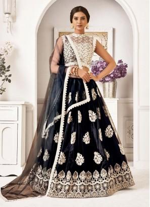 Navratri Style Embroidery Lehenga Choli In Black