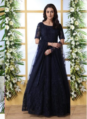 Navy Blue Party Designer Gown