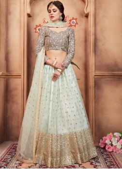 Nice Blue Sequins Lehenga Choli