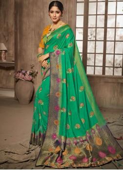 Nice Stone Bridal Traditional Designer Saree