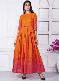 Orange Party Wear Kurti