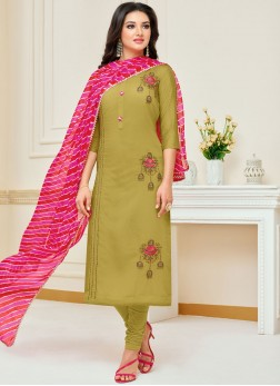 Orphic Chanderi Cotton Ceremonial Churidar Suit
