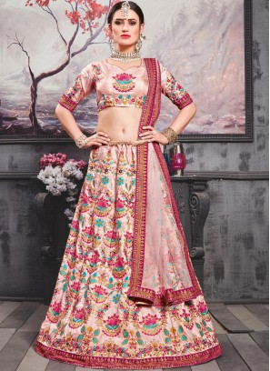 Patch Border Art Silk Lehenga Choli
