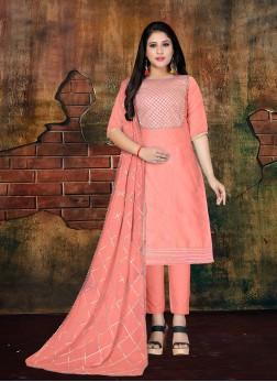 Peach Lace Mehndi Designer Salwar Kameez