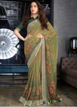 Perfervid Abstract Print Multi Colour Tamannaah Bhatia Printed Saree