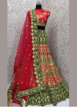 Perfervid Embroidered Multi Colour Art Silk Lehenga Choli