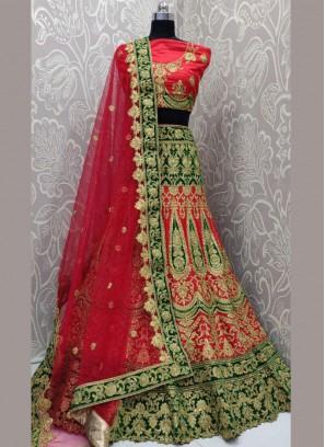 Perfervid Embroidered Multi Colour Art Silk Lehenga Choli