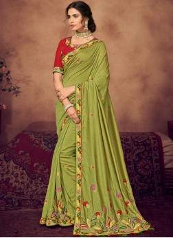Phenomenal Art Silk Sangeet Designer Saree