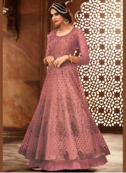 Phenomenal Embroidered Net Floor Length Anarkali Suit