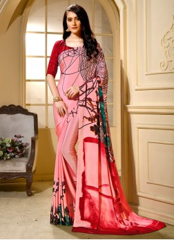 Pink Color Trendy Saree