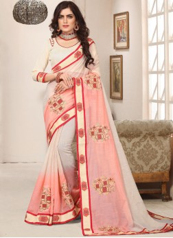 Pink Cotton Silk Resham Trendy Saree