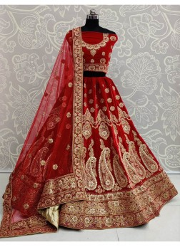 Pleasing Red Heavy Finished Gota Patti Work and Sequins Lehenga Choli