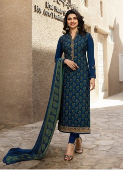 Prachi Desai Abstract Print Churidar Designer Suit