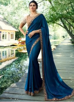 Prachi Desai Blue Art Silk Traditional Saree