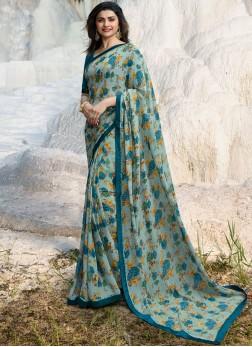 Prachi Desai Multi Colour Abstract Print Printed Saree
