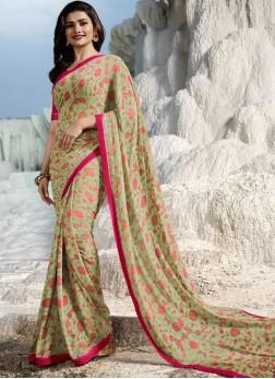 Prachi Desai Weight Less Abstract Print Multi Colour Printed Saree