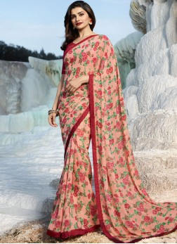 Prachi Desai Weight Less Abstract Print Printed Saree