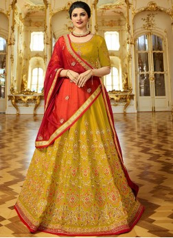 Prachi Desai Yellow Lehenga Choli