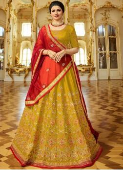 Prachi Desai Yellow Lehenga Choli