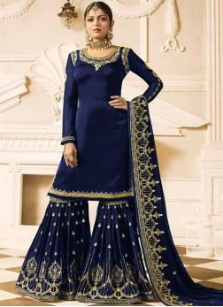 Preferable Embroidered Drashti Dhami Faux Georgette Designer Pakistani Suit