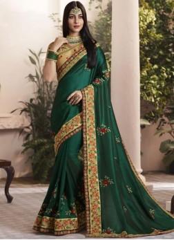 Prepossessing Thread Wedding Designer Saree