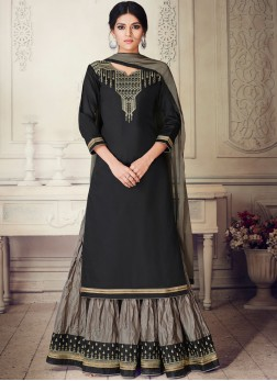 Prime Black Cotton Silk Designer Lehenga Choli