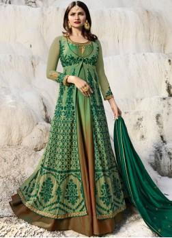 Prime Green Mehndi Anarkali Salwar Suit