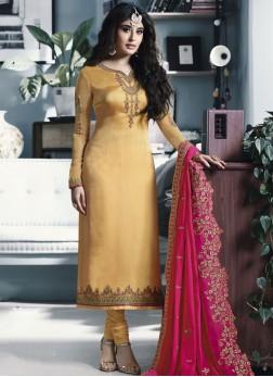 Prime Yellow Festival Churidar Salwar Suit