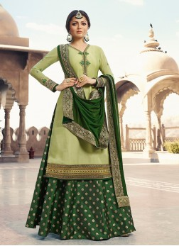 Princely Georgette Satin Wedding Trendy Lehenga Choli