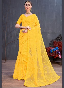 Prominent Resham Trendy Saree