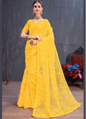 Prominent Resham Trendy Saree