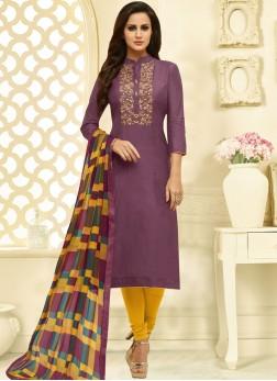 Purple Churidar Suit